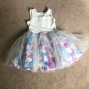 Disney Dresses - Girls White /flower bottom dress